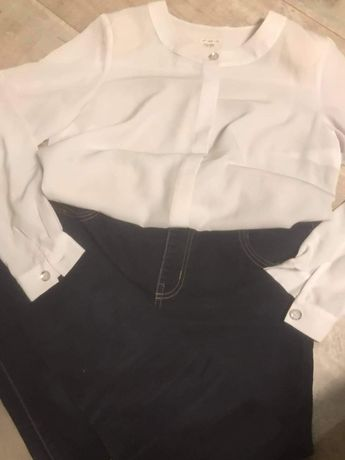 Sprzedam spodnie i biała bluzkę