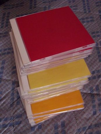 20 Caixas para CDs com frente com Vinyl