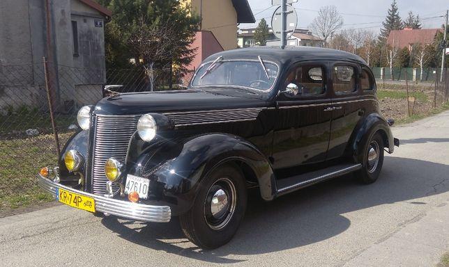 Zabytkowe auto do ślubu oryginalny amerykański samochód deSoto 1937 r.