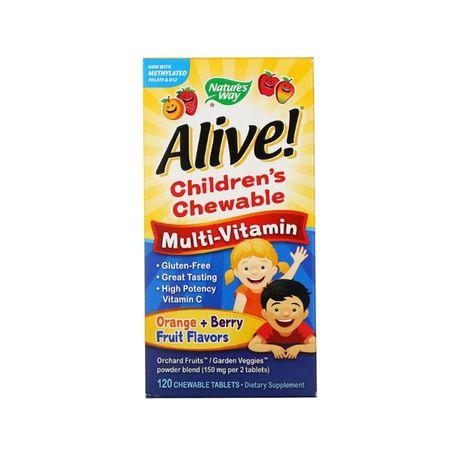 Мультивитамины детские жевательные 120 шт Nature's Way Alive! США