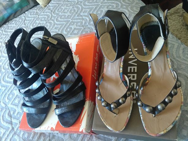 Sandálias em pele Xti e Haity n.° 38
