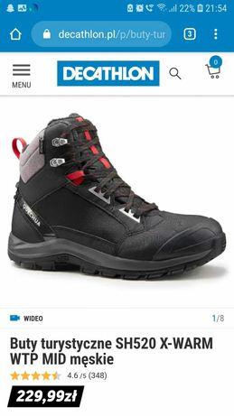 Buty zimowe Decathlon rozm.44 wkładka 28cm.