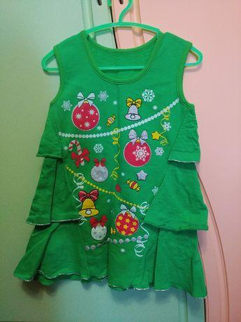 Платье новогоднее, новогодний костюм