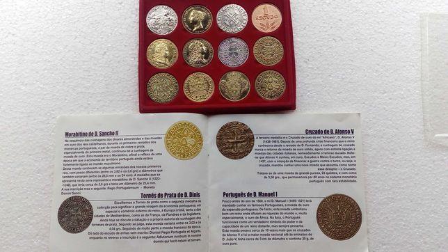 """Colecção de 12 moedas de """"10 Séculos da Moeda Portuguesa"""""""