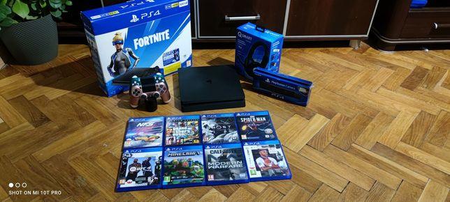 PS4 2xPad GTA V UFC 4 FIFA 21 Spider-Man Minecraft Kamera PlayStation