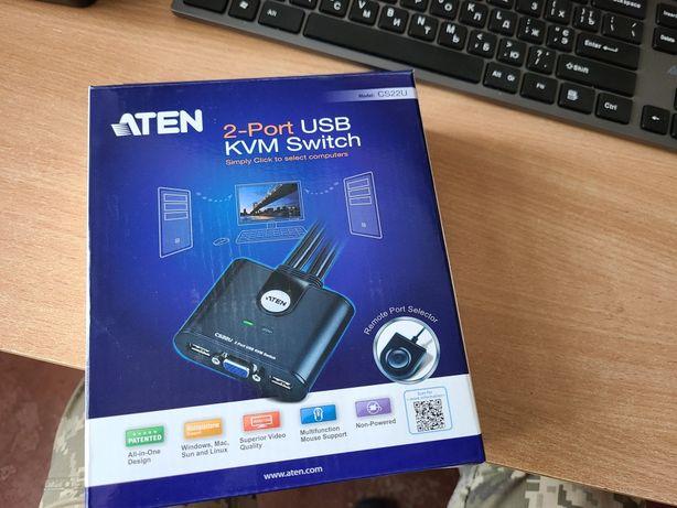 KVM-переключатель ATEN CS22U-A7 2-портовый USB