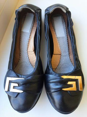 Туфли балетки в школу.  Натуральная кожа. Размер 35