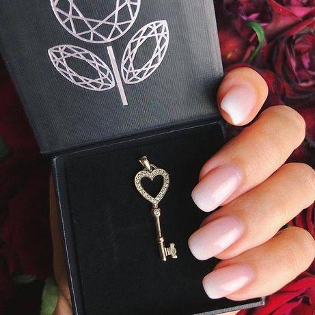 Ключ подвес ключик подвеска epl diamond золото с бриллиантами