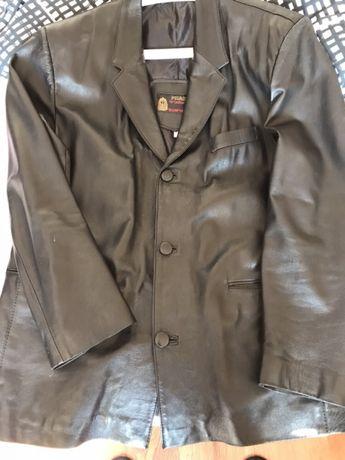Skórzana kurtka męska XL