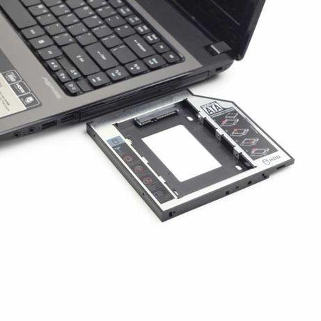 """Adaptador HDD/SSD Caddy 2,5"""" para Drive Portatil 12.7mm"""