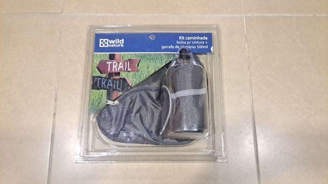 KIt de Caminhada (bolsa cintura+ garrafa alumínio) SELADO