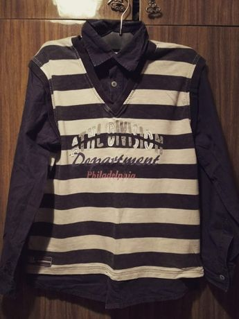 Рубашка - обманка на мальчика 11-12 лет