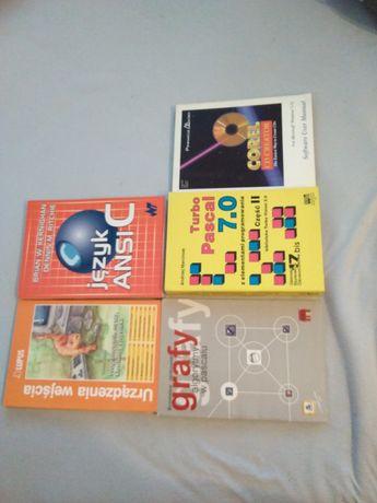 Książki do informatyki Ansi C, Corel CD Creator, Turbo Pascal 7.0