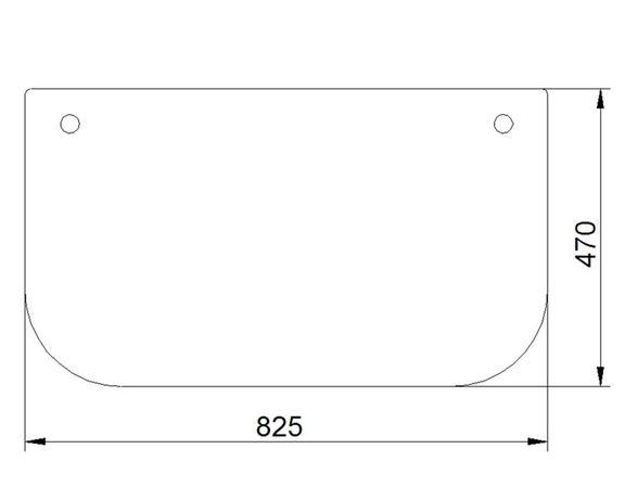Komatsu PC  PW HB - SZYBA przednia dolna
