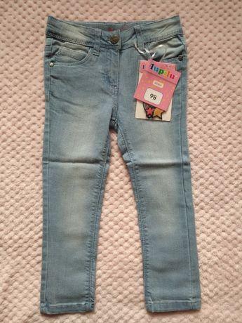 Lupilu - Jeansowe spodnie z naszywkami do wklejenia - 98