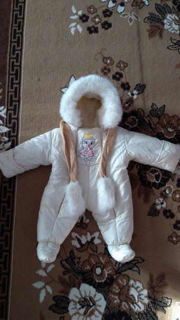 Дитячий зимовий комбінезон, комбез зима, комбінезон 0-9м.