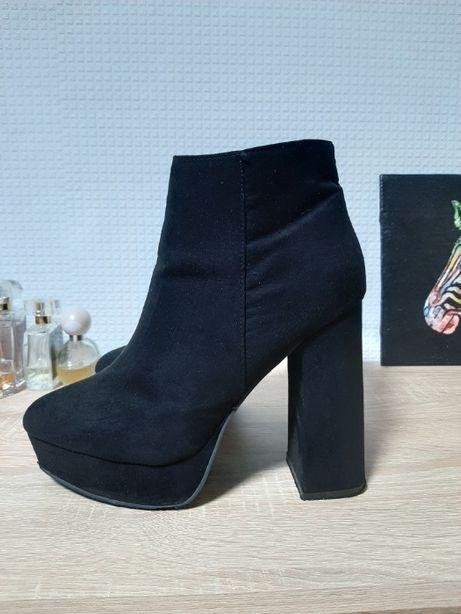 ботинки женские под замш р.39