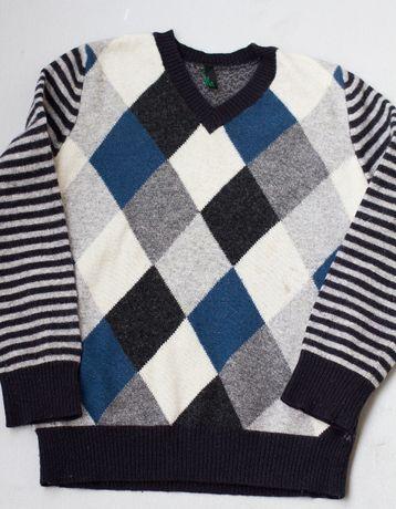 wełniany sweter, wełna Benetton r. 116