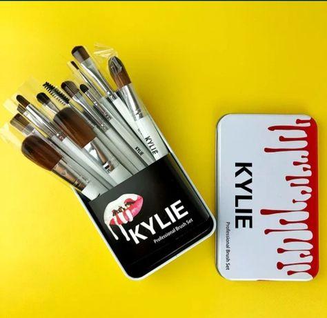 Набор кистей Kylie 12 шт для макияжа / Кайли кисточки для макияжа