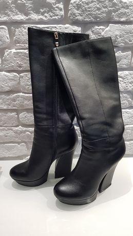 Buty KAZAR kozaki skórzane czarne