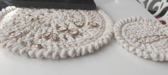 Złoto kolczyki,pierscionki,Łańcuszek,bransoletka