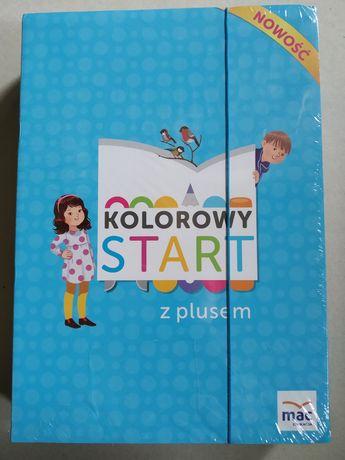 Kolorowy Start z Plusem Sześciolatek Box Nowy Folia Wydawnictwo Mac