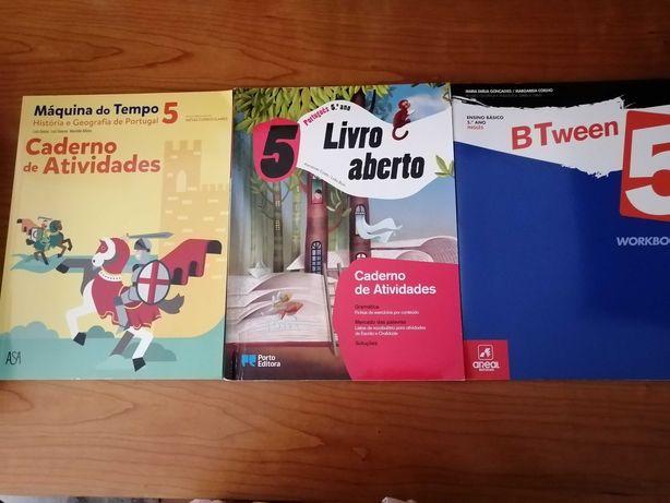 Cadernos de atividades (HGP/ Inglês/Português) 5º ano