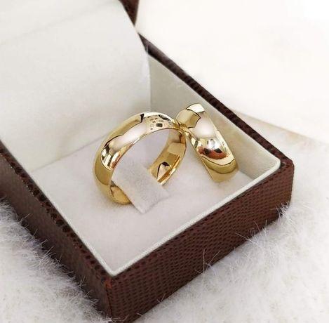 SYMBOL MIŁOŚCI! Elegancka Para Złotych Obrączek Ślubnych