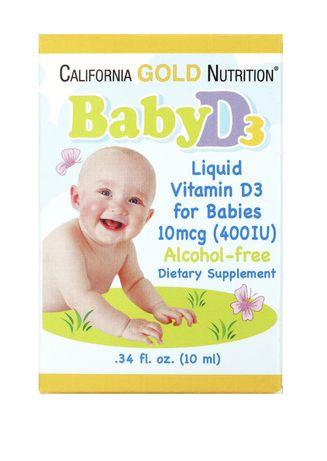 Витамин D3 , California Gold, Iherb