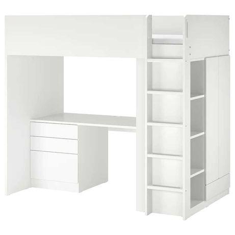 Beliche com Secretária Smastad-IKEA