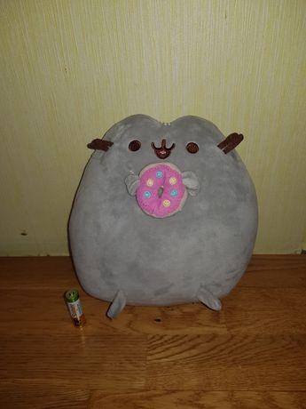Мягкая игрушка, Кот Пушин Pusheen с пончиком/25см