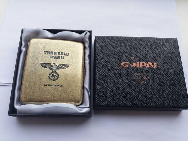 Портсигар Третий рейх Германия Вермахт Сувенир + коробка на 16 сиг