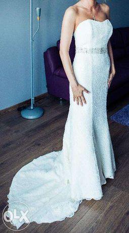 Piękna suknia ślubna z salonu Madonna, rozm. 36, stan idealny!
