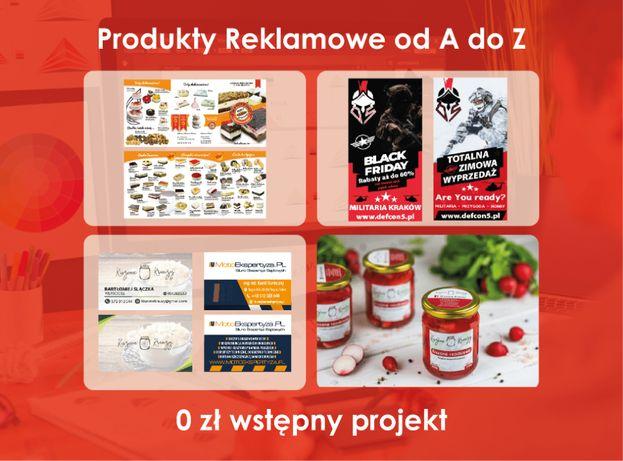 WIZYTÓWKI pieczątki ULOTKI banery REKLAMA projekt projekty grafik logo