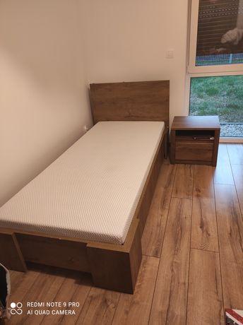 Łóżko z materacem 90x200 plus szafka nocna
