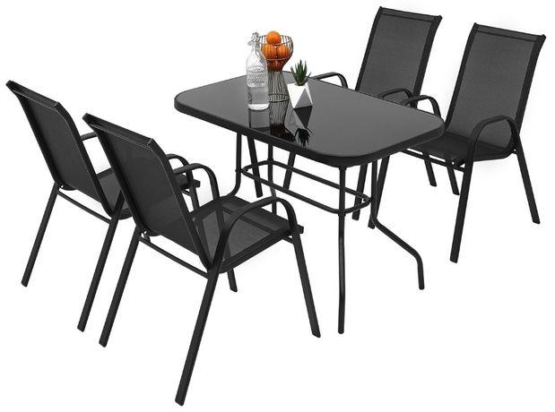 Meble ogrodowe zestaw stół 4+1 na taras balkon