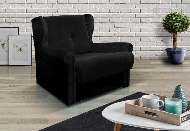 NOWY fotel uszak rozkładany amerykanka skandynawski sofa łóżko AMBER