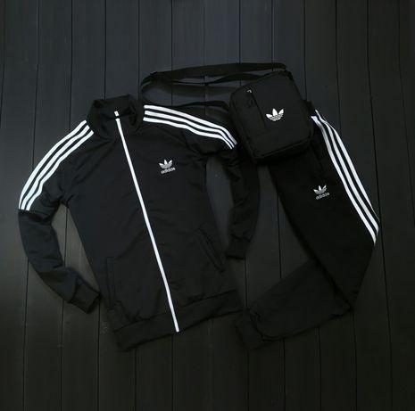 Лототип вышит! Мужской спортивный костюм Adidas кофта штаны барсетка