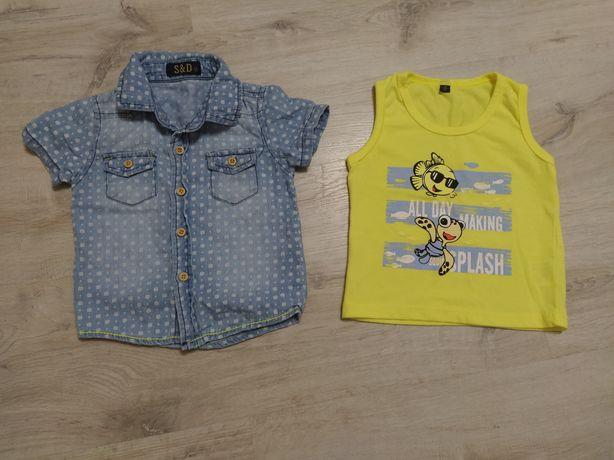 Набор(майка и джинсовая рубашка)