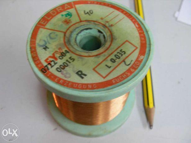 Fio de cobre esmaltado para bobinagem. E fio litz.