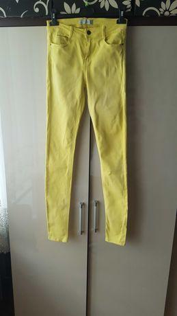 Żółte Spodnie rurki