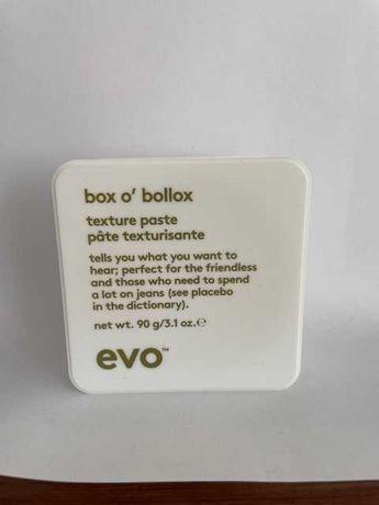 Pasta do układania włosów EVO box o'bollox 90g pełnowymiarowa NOWA