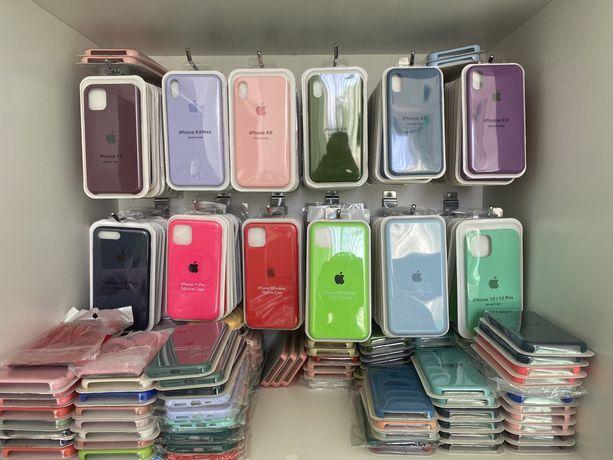 Опт и розница чехлов Silicon case 5,6,6s,6s+,7,7+,8,8+,x,xs,xr,11,12