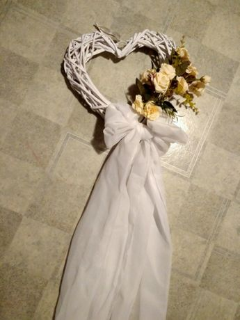 Dekoracje ślubne-kule wiszące, kwiaty, na auto (komunia/chrzest)