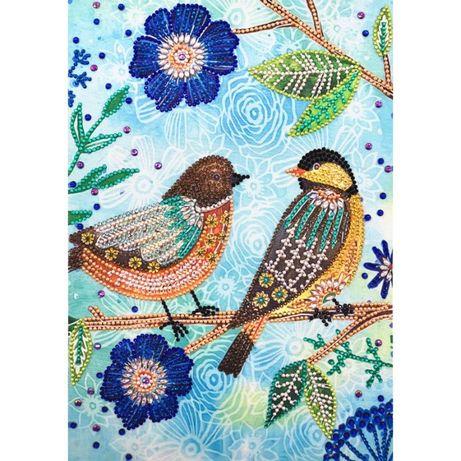 ptaszki ptaki obraz diamentowe malarstwo