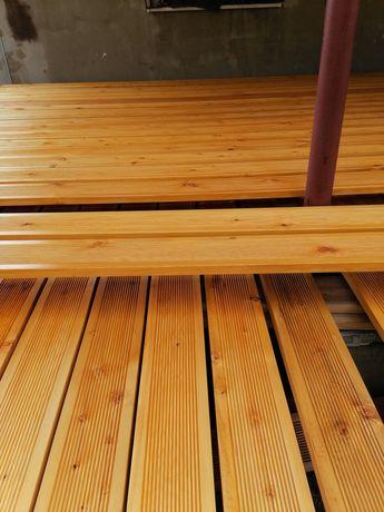 Olejowana Deska tarasowa modrzew syberyjski 27x145 kl AB taras