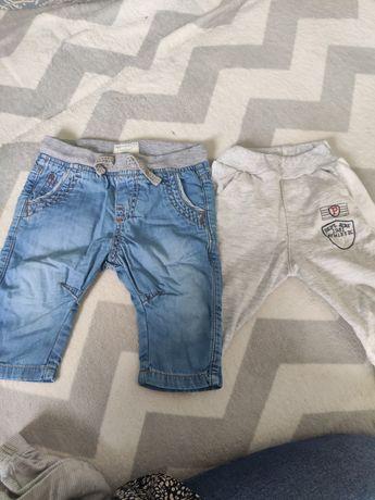 Spodnie 2pary rozmiar 74  68 Zara