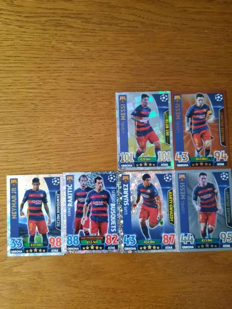 karty match attax Messi klub 100