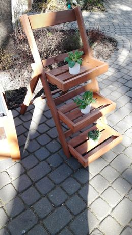Kwietnik drewniany stojak na kwiaty składany, zielnik