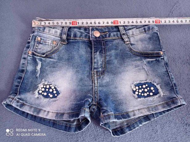 Шорти джинсові 134р. 7-9р.
